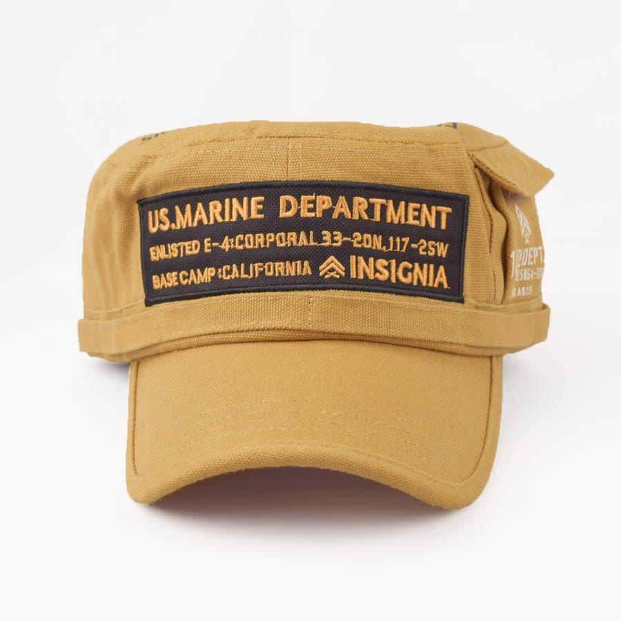 4682-436L ワークキャップ 帽子 Military メンズ レディース ワーカー ワッペン キャンバス ユニセックス 4