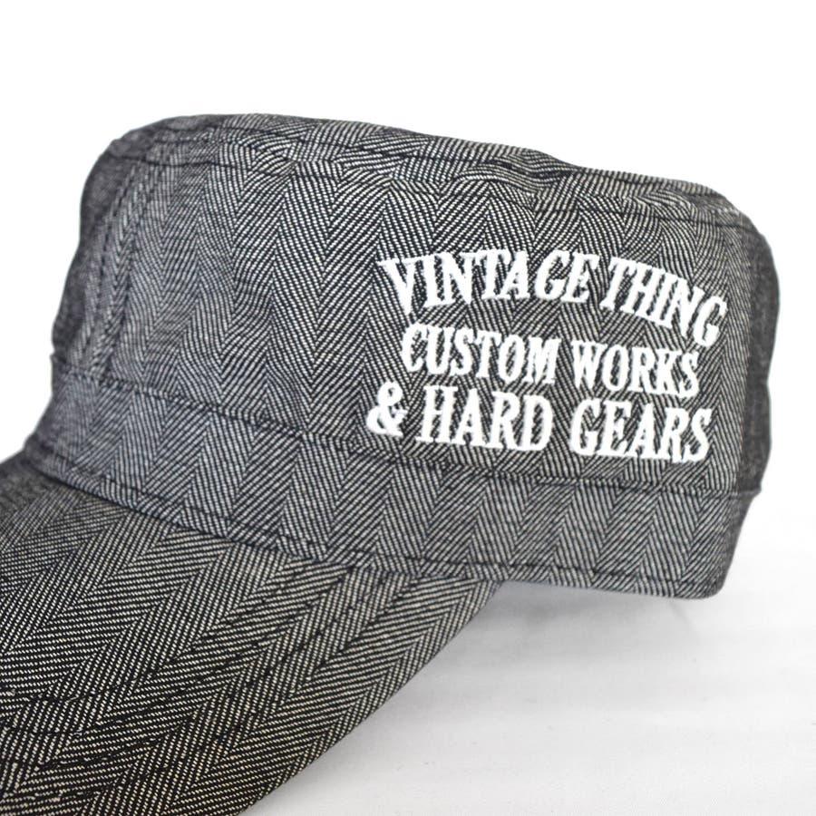 8682-481L GAZELLE サイド刺繍入り ベーシック ワークキャップ 帽子 メンズ レディース ユニセックス カモフラ 迷彩 ストライプ ヒッコリー 刺繍 定番 おおきめ ゆったり KINGサイズ シンプル 5