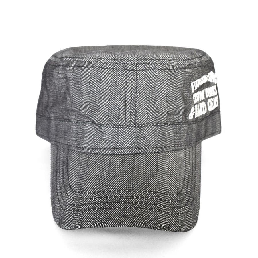 8682-481L GAZELLE サイド刺繍入り ベーシック ワークキャップ 帽子 メンズ レディース ユニセックス カモフラ 迷彩 ストライプ ヒッコリー 刺繍 定番 おおきめ ゆったり KINGサイズ シンプル 4