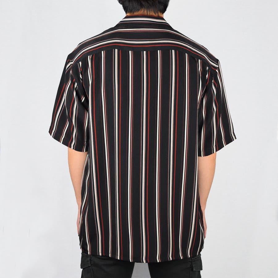PTストライプ 半袖 オープンカラーシャツ 9343-600 2