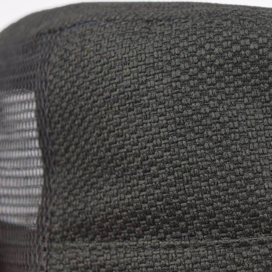 0683-805 帽子 キャップ ワーク メッシュ キャップ デニム ストライプ ヒッコリー  ダメージ 加工 ビンテージ メンズ レディース ユニセックス 5