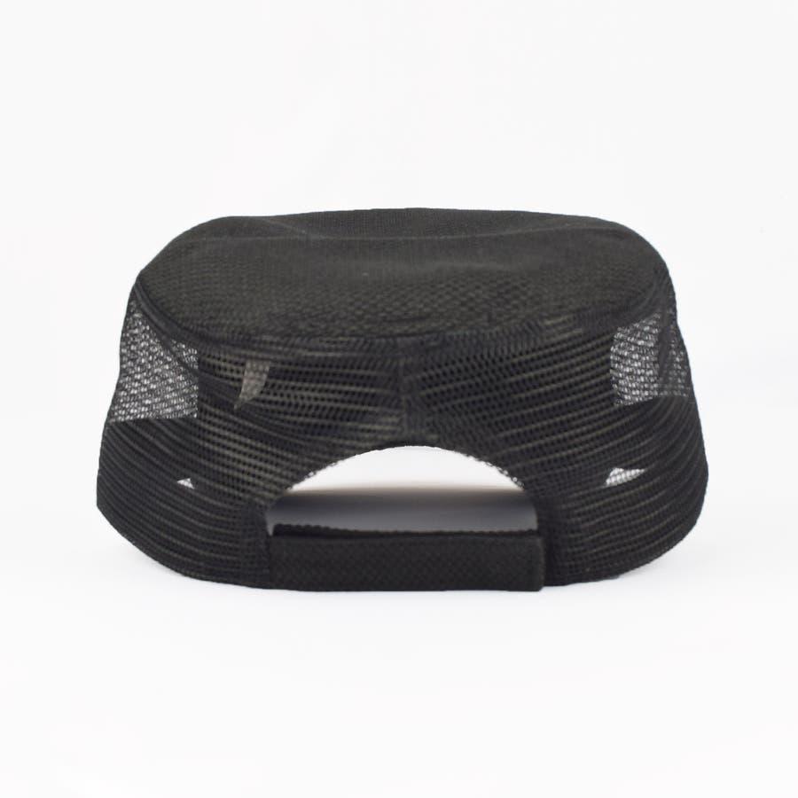 0683-805 帽子 キャップ ワーク メッシュ キャップ デニム ストライプ ヒッコリー  ダメージ 加工 ビンテージ メンズ レディース ユニセックス 2