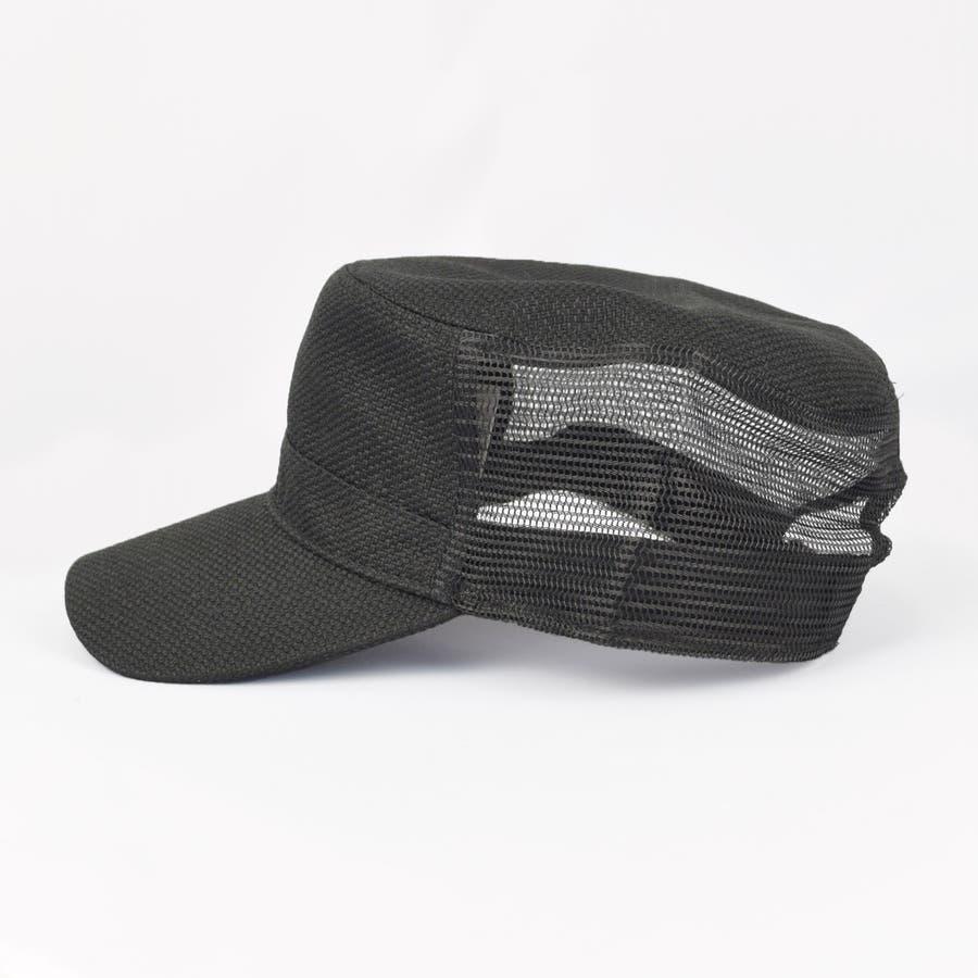 0683-805 帽子 キャップ ワーク メッシュ キャップ デニム ストライプ ヒッコリー  ダメージ 加工 ビンテージ メンズ レディース ユニセックス 3