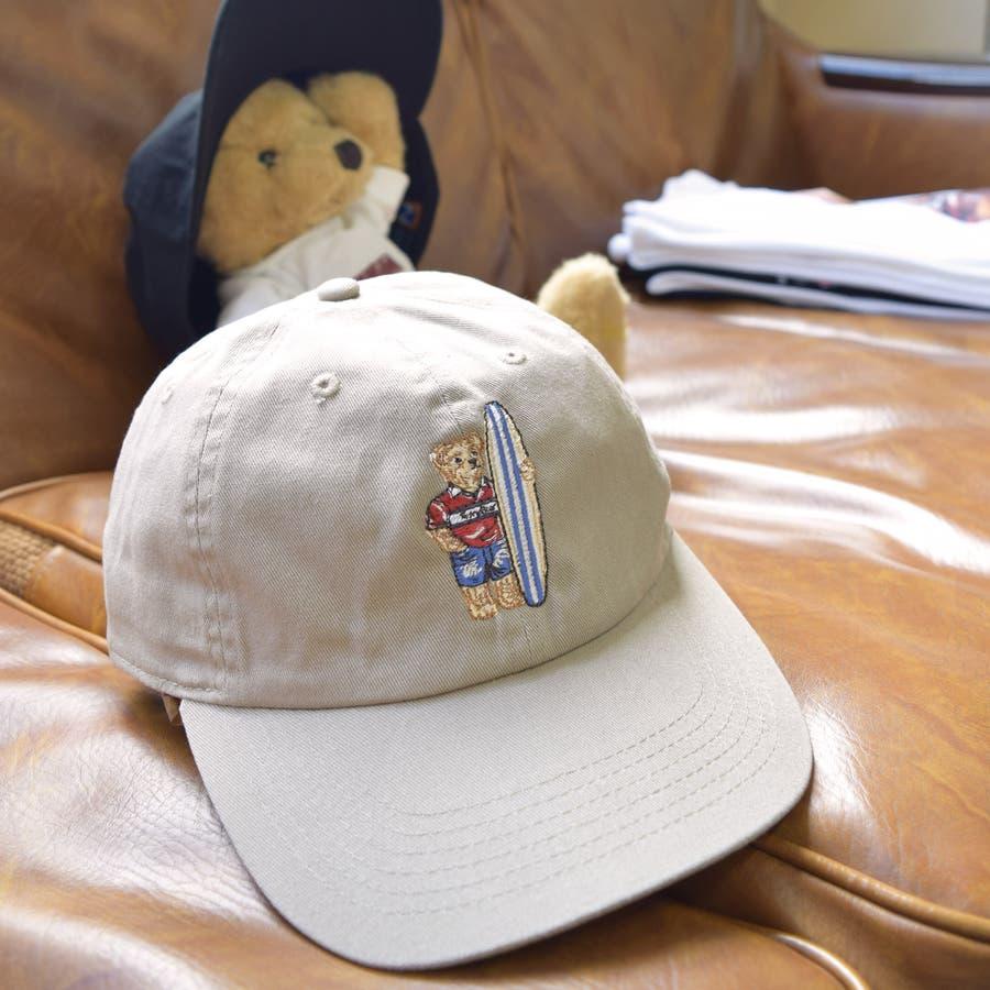 TDBR-006 テディベア 刺繍 ローキャップ キャップ フルフェイス くま Teddy Bear メンズ レディース ユニセックス フリーサイズ かわいい ナチュラル ワンポイント 8