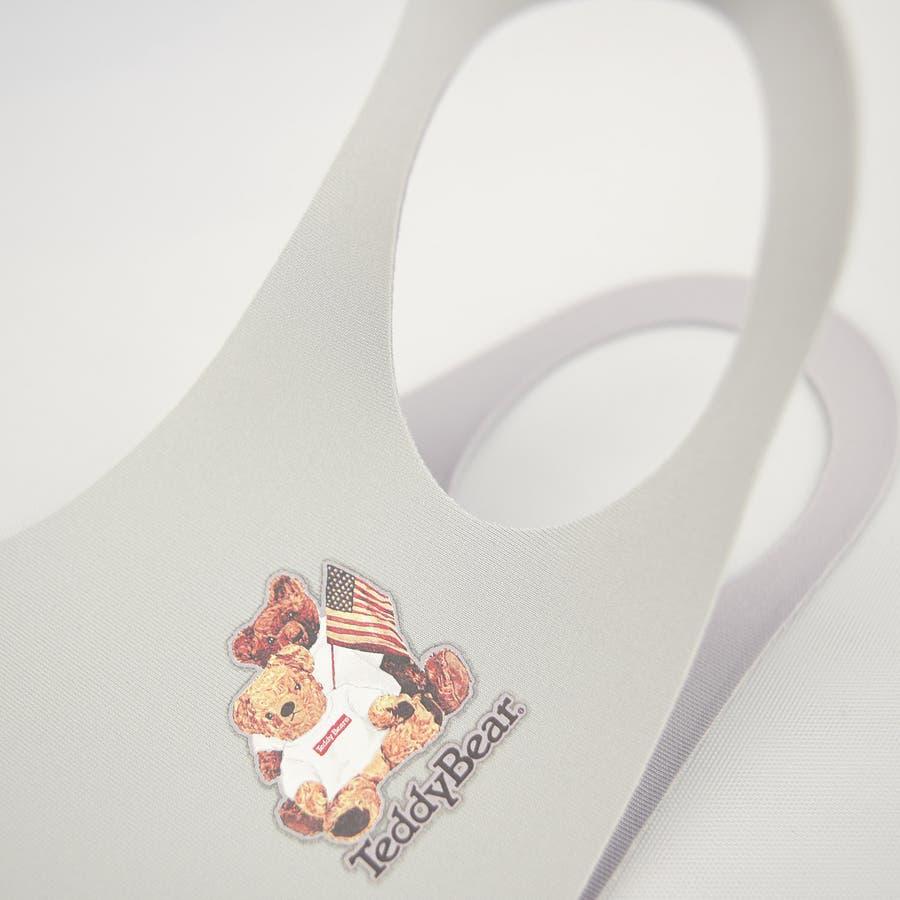 TDBR-052 マスク ファッションマスク  テディ テディベア Teddy Bear くま かわいい ワンポイント 手洗い可 ウォッシャブル  ストリート 韓国 韓国ファッション 通勤 通学 抗菌 消臭 UVカット 吸水速乾 伸縮性 メンズ レディース ユニセックス 男女兼用 大人用 7