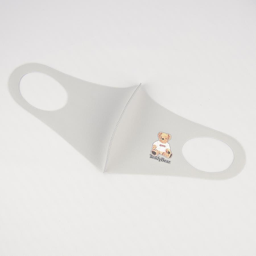 TDBR-053 マスク ファッションマスク  テディ テディベア Teddy Bear くま かわいい ワンポイント 手洗い可 ウォッシャブル  ストリート 韓国 韓国ファッション 通勤 通学 抗菌 消臭 UVカット 吸水速乾 伸縮性  メンズ レディース ユニセックス 男女兼用  5