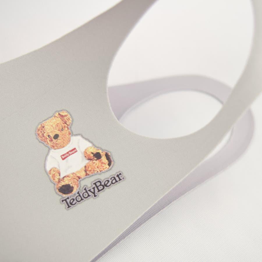 TDBR-053 マスク ファッションマスク  テディ テディベア Teddy Bear くま かわいい ワンポイント 手洗い可 ウォッシャブル  ストリート 韓国 韓国ファッション 通勤 通学 抗菌 消臭 UVカット 吸水速乾 伸縮性  メンズ レディース ユニセックス 男女兼用  8