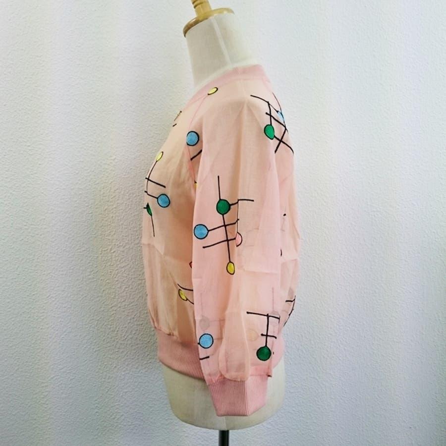 [新作★NewItem]2色4サイズ!刺繍柄入りファスナー付透け可愛いショートジャケット/レディース【RCP】【smtb-m】 10