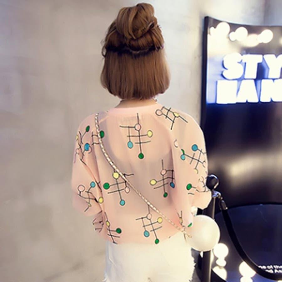 [新作★NewItem]2色4サイズ!刺繍柄入りファスナー付透け可愛いショートジャケット/レディース【RCP】【smtb-m】 4
