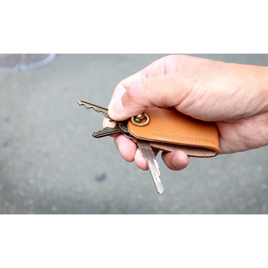 キーケース キーホルダー  レザー 本革 wlp-016 workers of Leather products  5