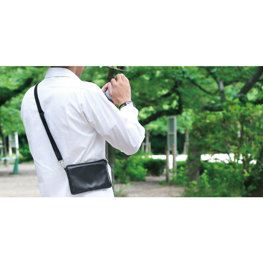 本革 日本製 サコッシュ 革 メンズ レザー ミニ 小さめ 軽い 斜めがけ 肩 ポーチ ショルダー バッグ ブランド 40代 メッセンジャー クラッチ レディース 5