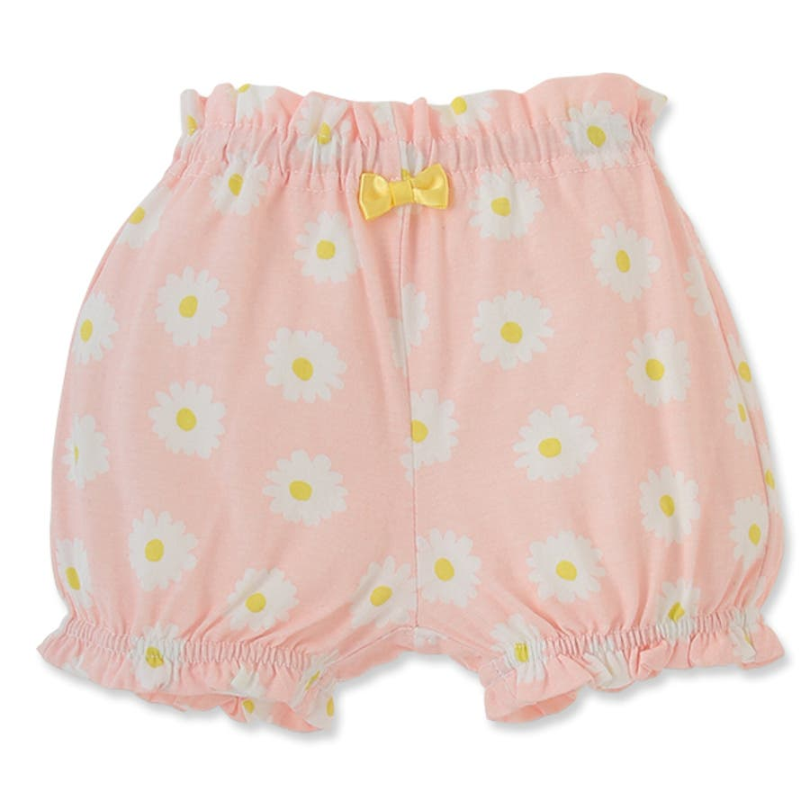 de3970d1b37ea EFC リボン付き花柄かぼちゃパンツ ピンク グレー 60-70cm  ベビー ...
