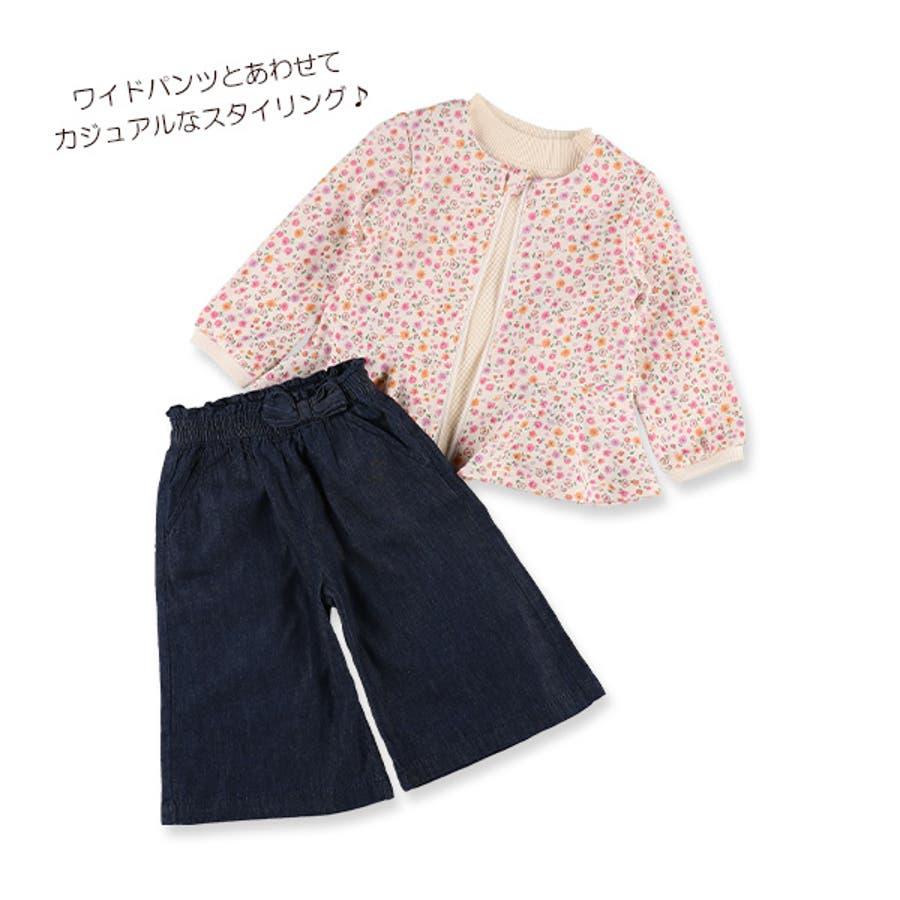[EFC]小花柄ペプラムジャケット【80cm・90cm・95cm】[ベビー 女の子 ベビー服 ジャケット 春もの 秋もの 冬もの 花柄アウトウェア かわいい] 4