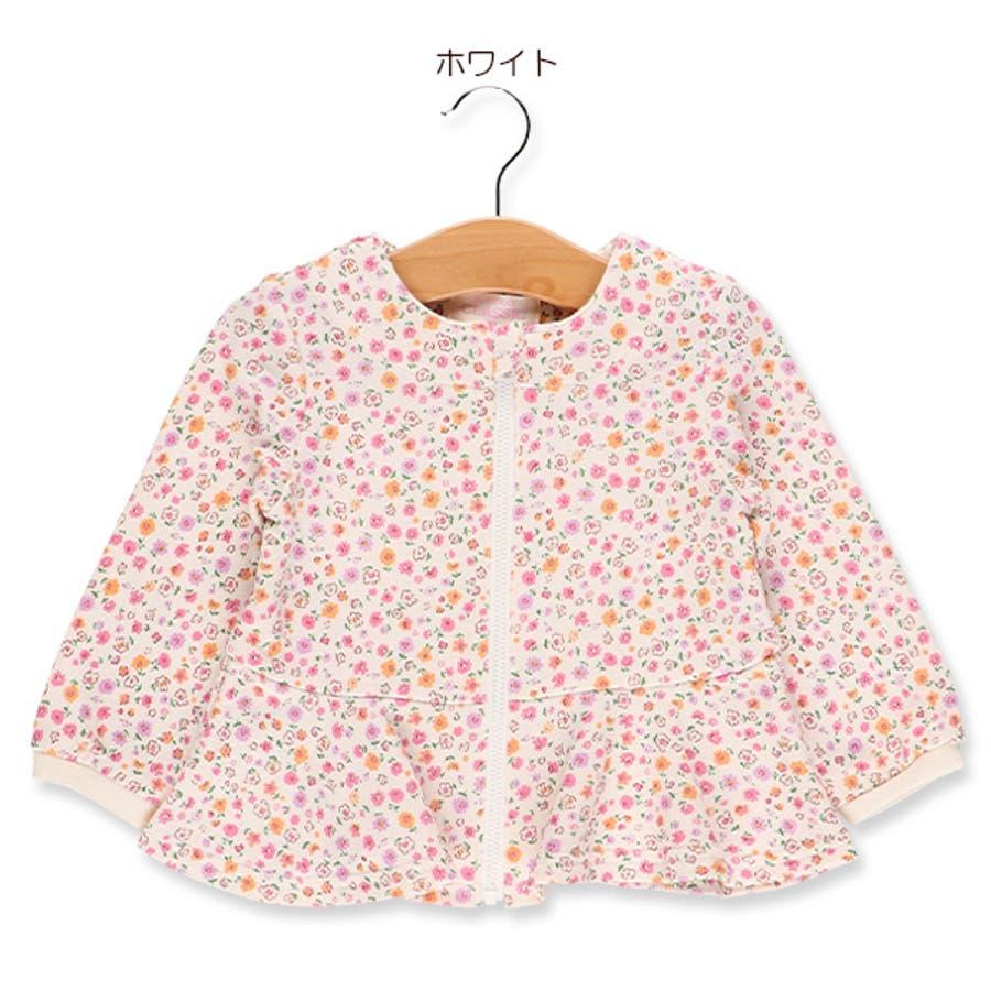 [EFC]小花柄ペプラムジャケット【80cm・90cm・95cm】[ベビー 女の子 ベビー服 ジャケット 春もの 秋もの 冬もの 花柄アウトウェア かわいい] 6