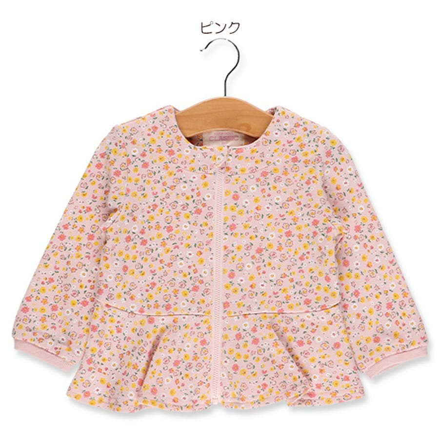 [EFC]小花柄ペプラムジャケット【80cm・90cm・95cm】[ベビー 女の子 ベビー服 ジャケット 春もの 秋もの 冬もの 花柄アウトウェア かわいい] 7