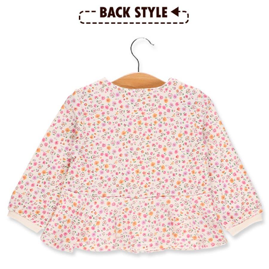[EFC]小花柄ペプラムジャケット【80cm・90cm・95cm】[ベビー 女の子 ベビー服 ジャケット 春もの 秋もの 冬もの 花柄アウトウェア かわいい] 8
