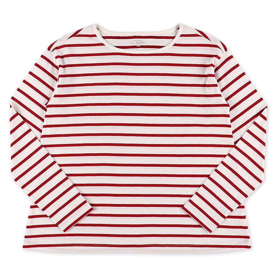[EFC]ボーダードロップ長袖Tシャツ【140cm・150cm】[女の子 長袖tシャツ tシャツ 西松屋 シャツ 長袖 ティーシャツ子供服 子ども服 キッズ服 子供 子ども こども キッズ 小学生 小学校 アウトウェア] 3