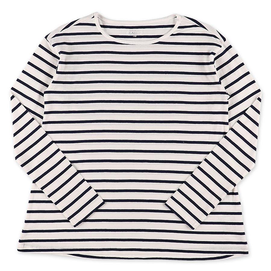 [EFC]ボーダードロップ長袖Tシャツ【140cm・150cm】[女の子 長袖tシャツ tシャツ 西松屋 シャツ 長袖 ティーシャツ子供服 子ども服 キッズ服 子供 子ども こども キッズ 小学生 小学校 アウトウェア] 4