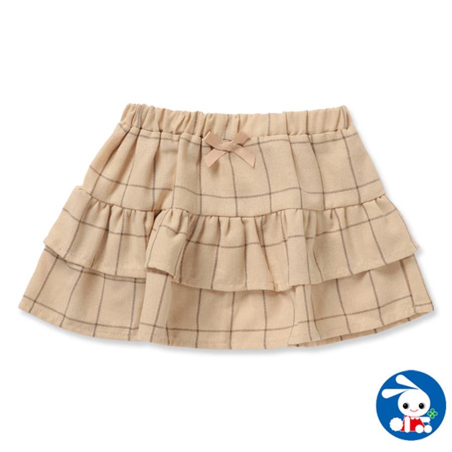 先染め格子柄スカート【80cm・90cm・95cm】[女の子 アウトウェア] 1