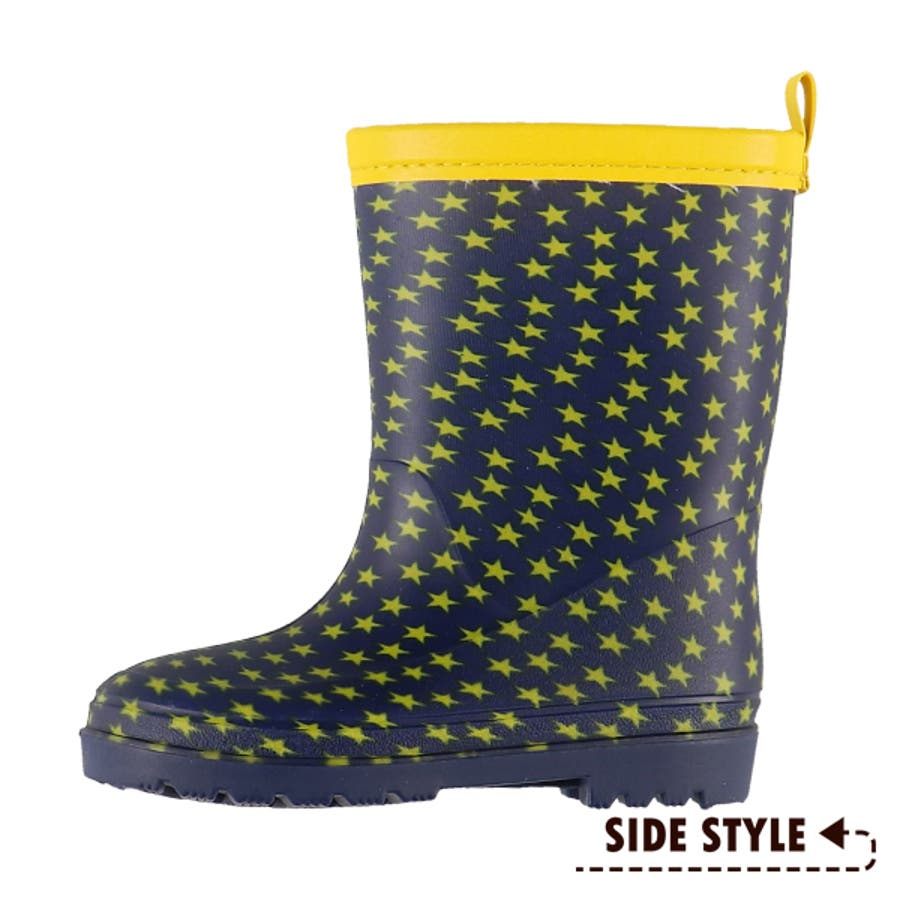 SmartAngel)レインブーツ(スター)【16cm・17cm・18cm・19cm・20cm】[靴 くつ 長靴 レインシューズレインブーツ 雨靴 ジュニア キッズ 子供 女の子 男の子] 2