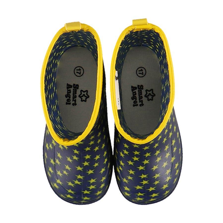 SmartAngel)レインブーツ(スター)【16cm・17cm・18cm・19cm・20cm】[靴 くつ 長靴 レインシューズレインブーツ 雨靴 ジュニア キッズ 子供 女の子 男の子] 3