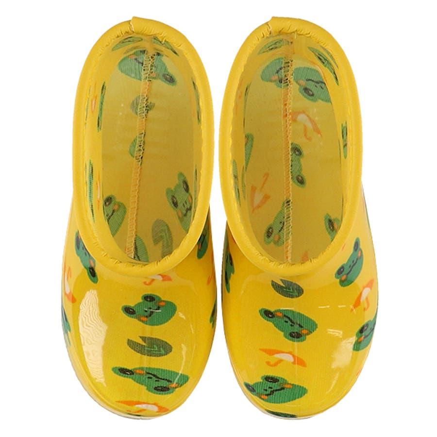レインブーツ(カエル柄)【13cm・14cm・15cm・16cm・17cm・18cm】[靴 くつ 長靴 レインシューズ レインブーツ雨靴 ジュニア キッズ 子供 女の子 男の子] 3