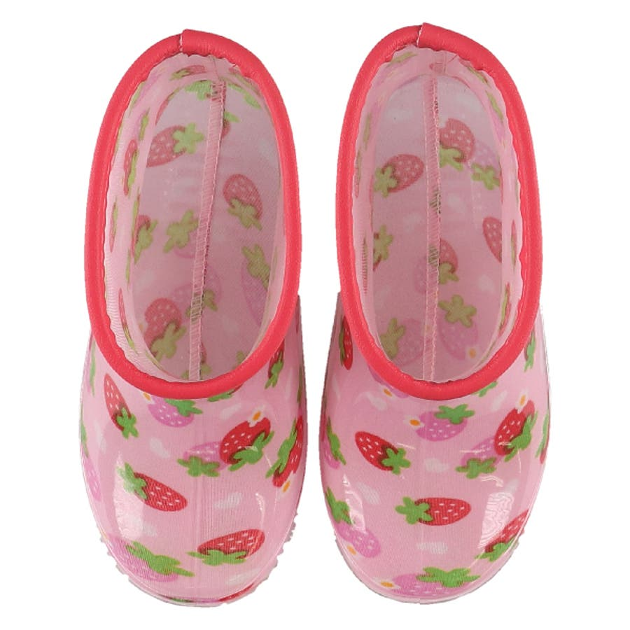 レインブーツ(イチゴ柄)【13cm・14cm・15cm・16cm・17cm・18cm】[靴 くつ 長靴 レインシューズ レインブーツ雨靴 ジュニア キッズ 子供 女の子 男の子] 3