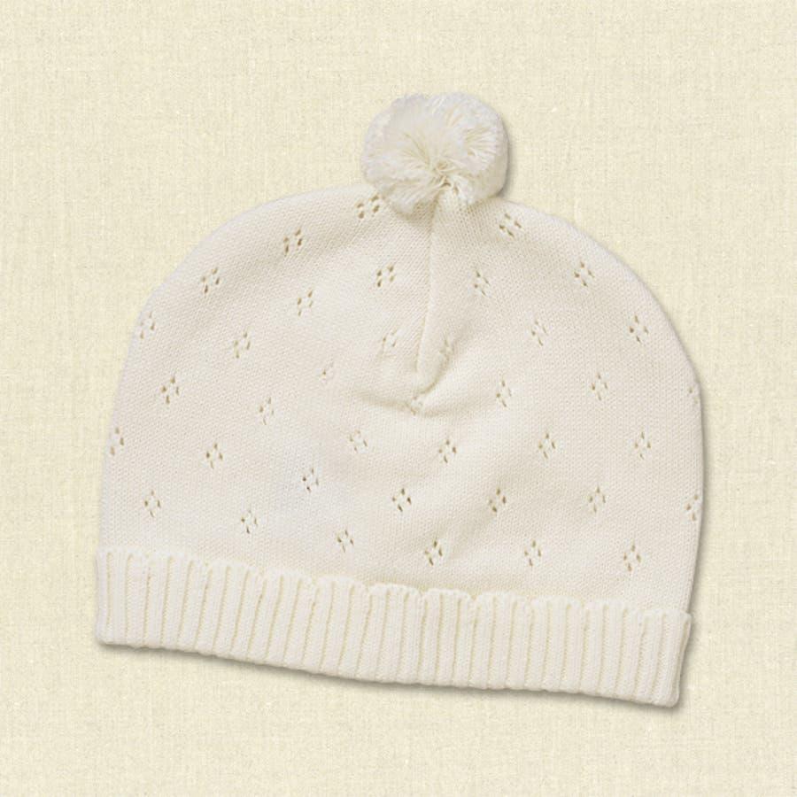 e0d45c3c35417f 新生児梵天付きニット帽子【40-42cm】[ 帽子 ぼうし 赤ちゃん帽子 男の子 ...