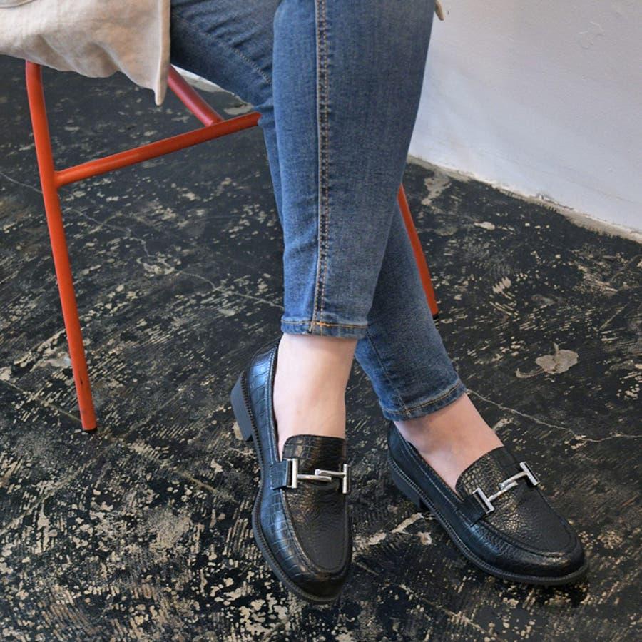 レディース 靴 ローファー マニッシュ シンプル おしゃれ ビット 可愛い 黒 ブラック ブラウン クロコ ベージュ フラット歩きやすい NOFALL SANGO サンゴ ノーフォール 21571 21