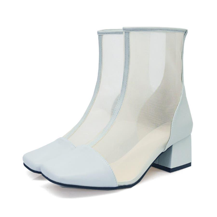 ショートブーツ スクエアトゥ 靴 59