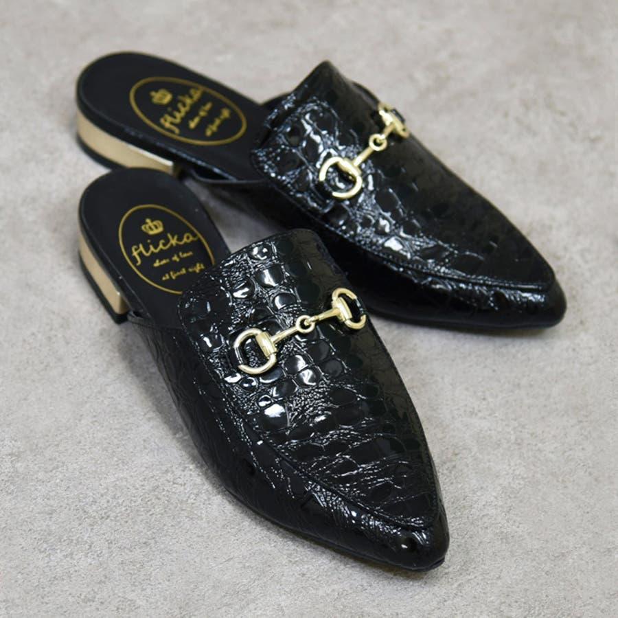 靴 レディース シューズ パンプス ミュール アーモンドトゥ おしゃれ かわいい ローヒール 黒 ブラック ブラウン 秋 NOFALL SANGO サンゴ ノーフォール 21533 2