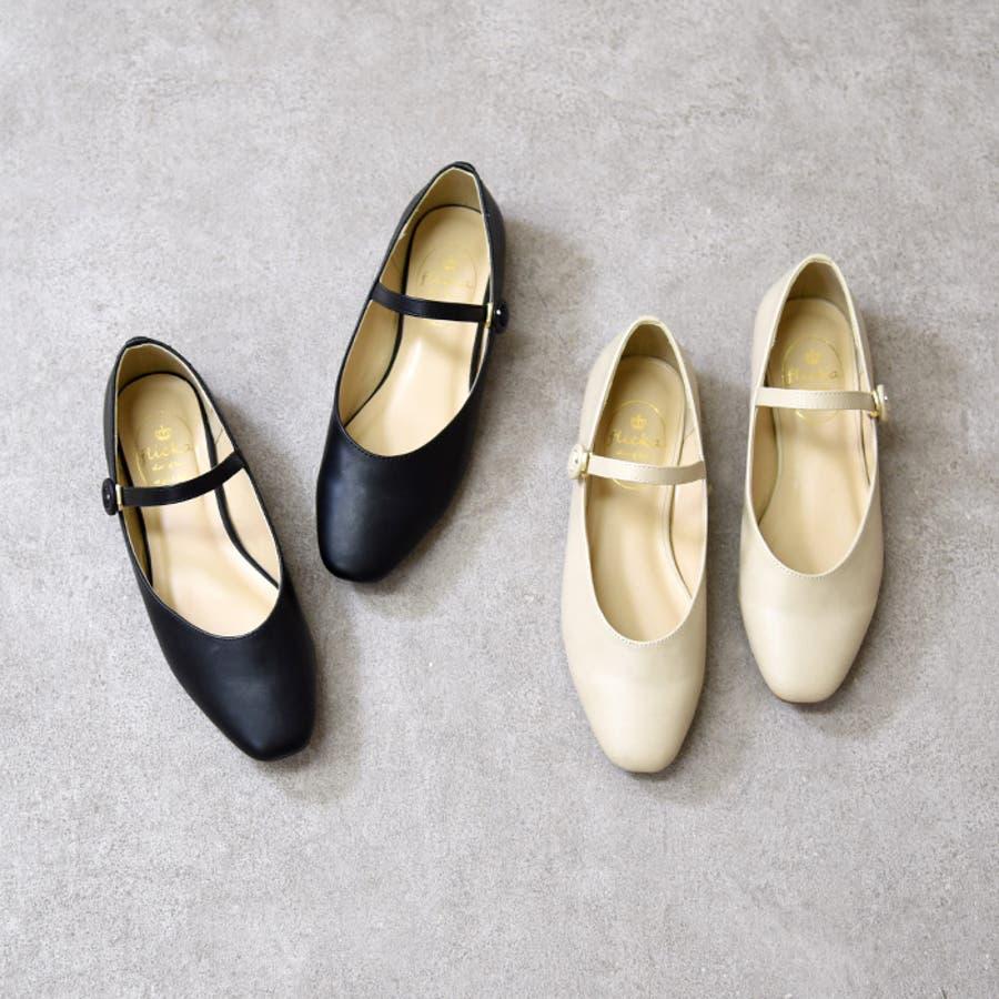靴 シューズ レディース パンプス ローヒール ストラップ 可愛い おしゃれ スクエアトゥ 合皮 歩きやすい 黒 NOFALL nofall SANGO sango ノーフォール サンゴ 21688 8