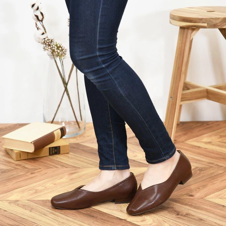 スクエアトゥ パンプス 靴 29