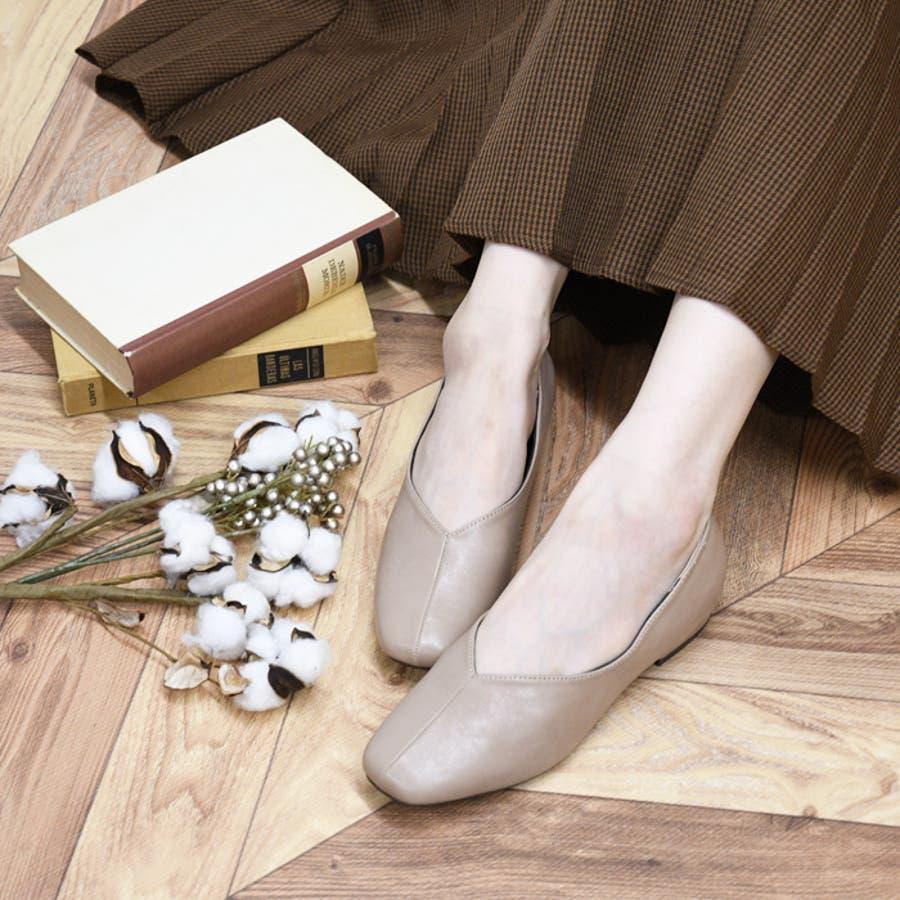 スクエアトゥ パンプス 靴 110