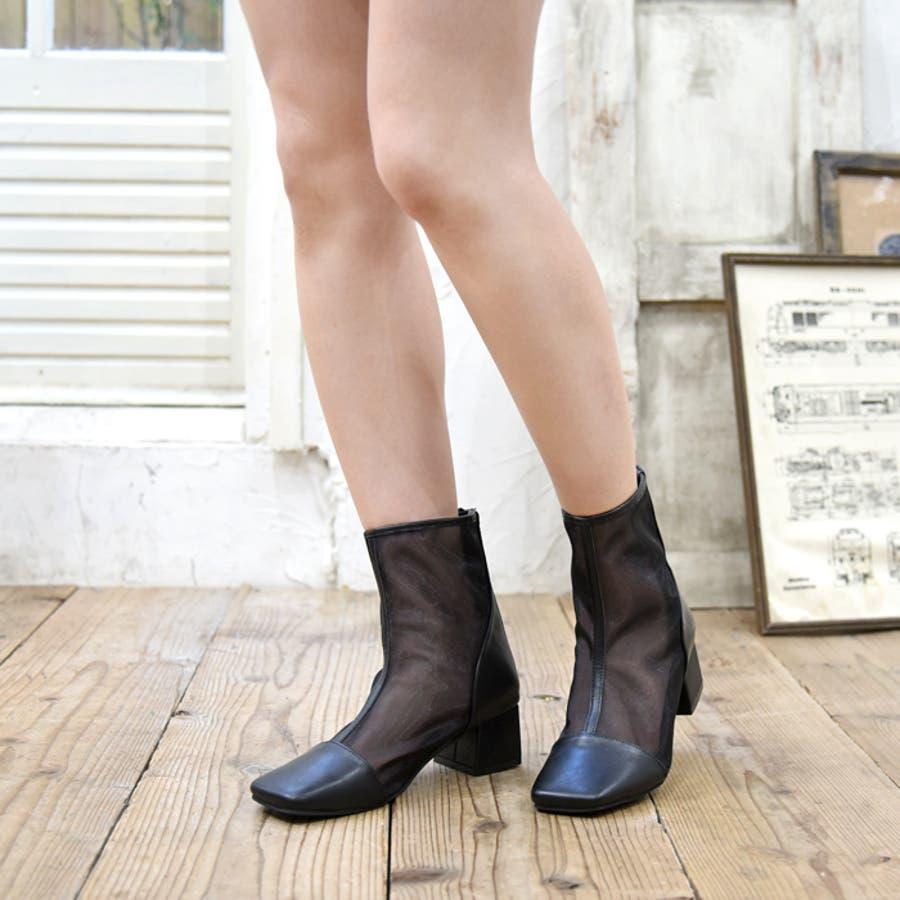 ショートブーツ スクエアトゥ 靴 21