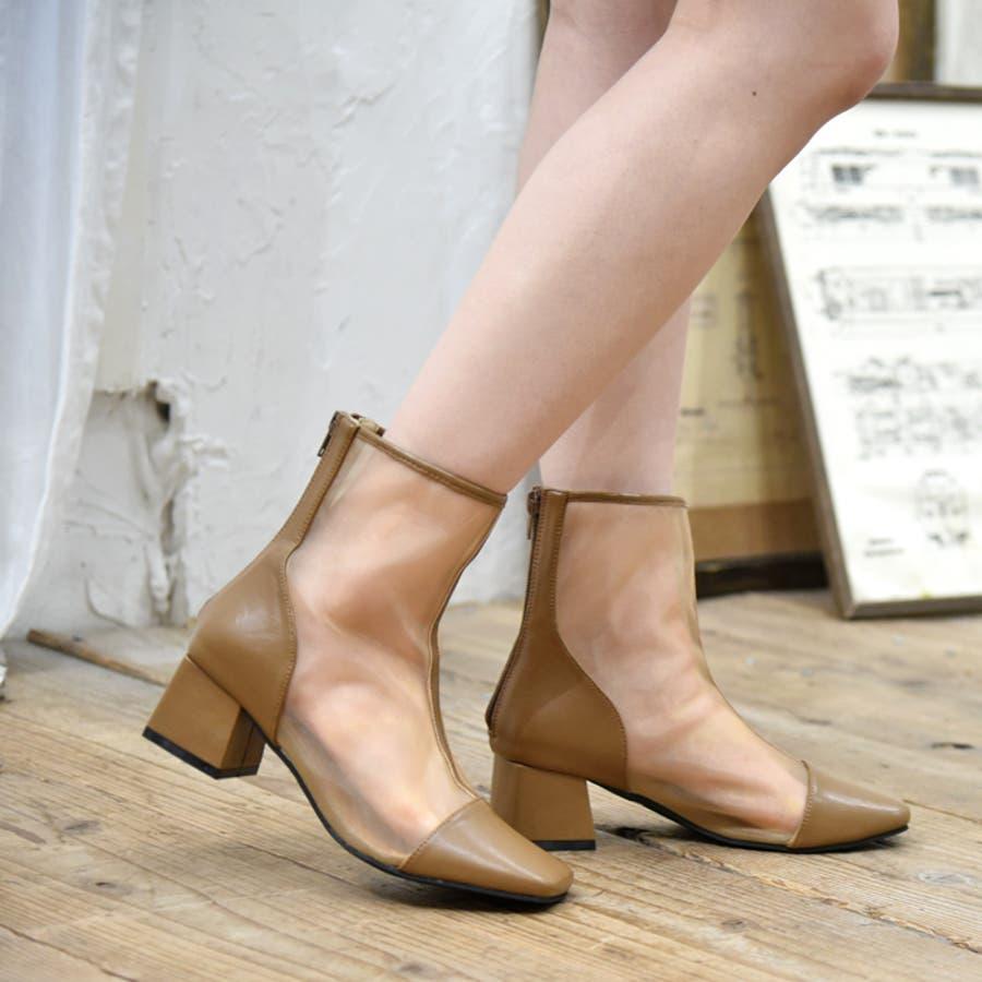 ショートブーツ スクエアトゥ 靴 29