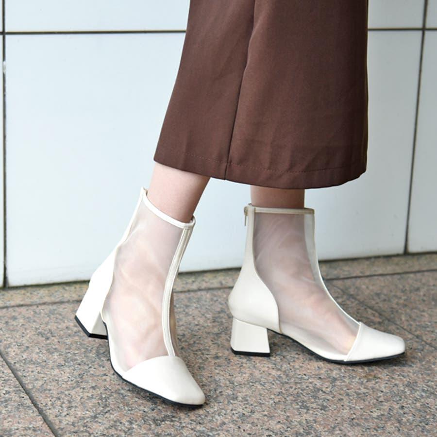 ショートブーツ スクエアトゥ 靴 18
