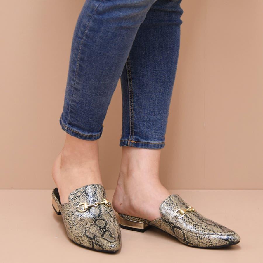 靴 レディース シューズ パンプス ミュール アーモンドトゥ おしゃれ かわいい ローヒール 黒 ブラック ブラウン 秋 NOFALL SANGO サンゴ ノーフォール 21533 41