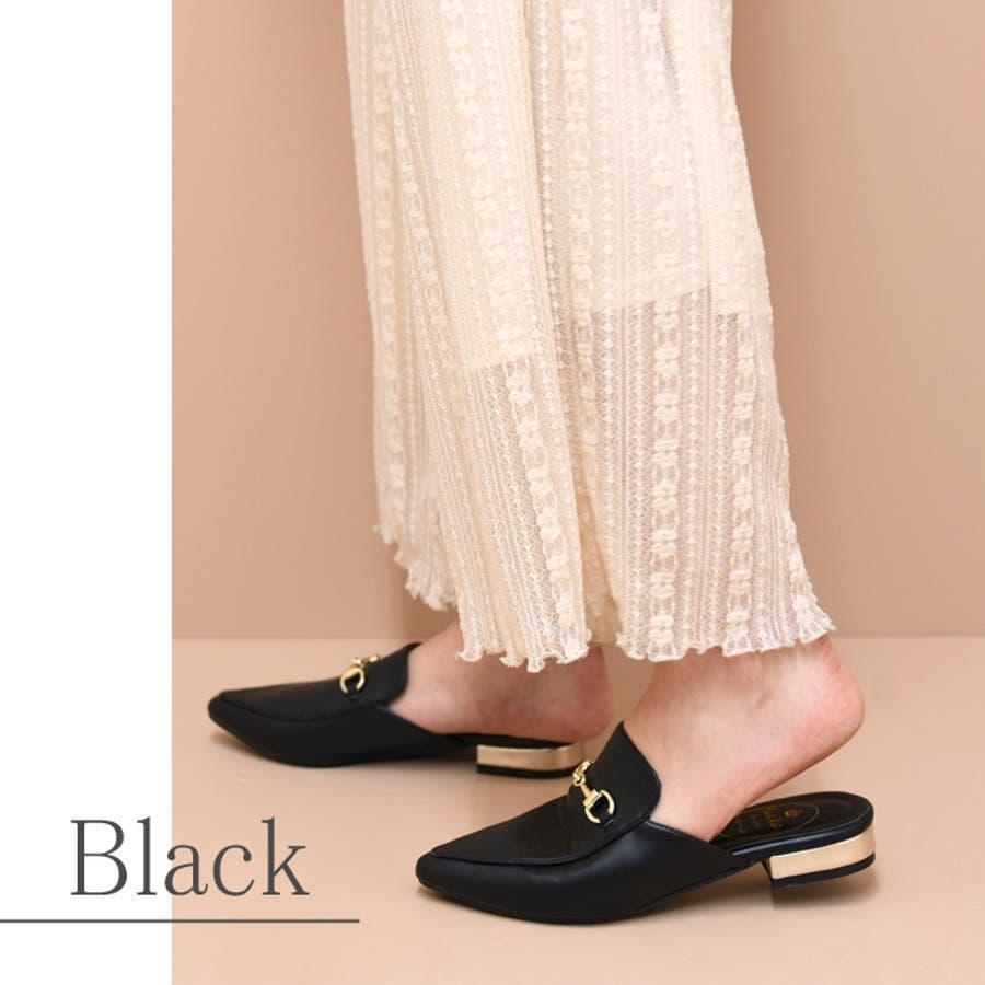 靴 レディース シューズ パンプス ミュール アーモンドトゥ おしゃれ かわいい ローヒール 黒 ブラック ブラウン 秋 NOFALL SANGO サンゴ ノーフォール 21533 21