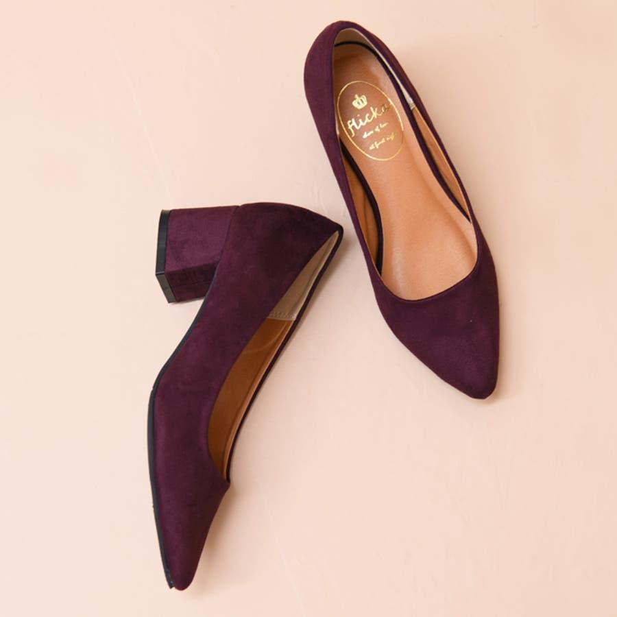 靴 レディース パンプス シンプル チャンキーヒール おしゃれ かわいい 大人っぽい きれいめ 履きやすい アーモンドトゥ ブラック ベージュ グレー 黒 秋 NOFALL SANGO 21539 2