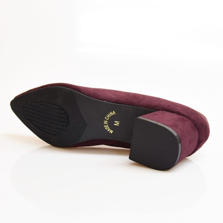 靴 レディース パンプス シンプル チャンキーヒール おしゃれ かわいい 大人っぽい きれいめ 履きやすい アーモンドトゥ ブラック ベージュ グレー 黒 秋 NOFALL SANGO 21539 9