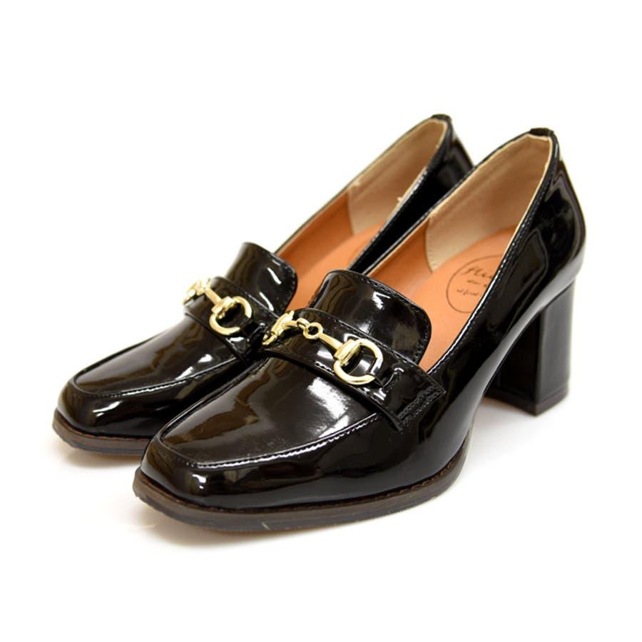 ビットヒールローファー 靴 レディース シューズ パンプスローファー マニッシュ ビット ハイヒール おしゃれ かわいい 黒 ブラック ブラウン 美脚 NOFALL SANGO サンゴノーフォール 21541 21