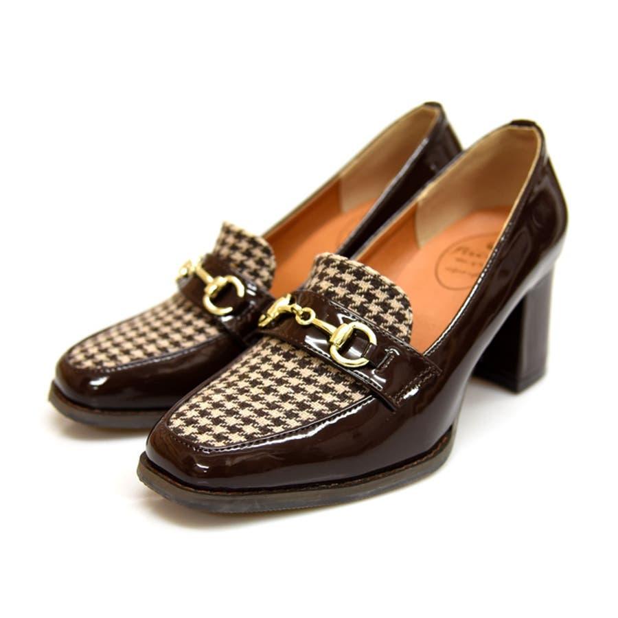 ビットヒールローファー 靴 レディース シューズ パンプスローファー マニッシュ ビット ハイヒール おしゃれ かわいい 黒 ブラック ブラウン 美脚 NOFALL SANGO サンゴノーフォール 21541 40
