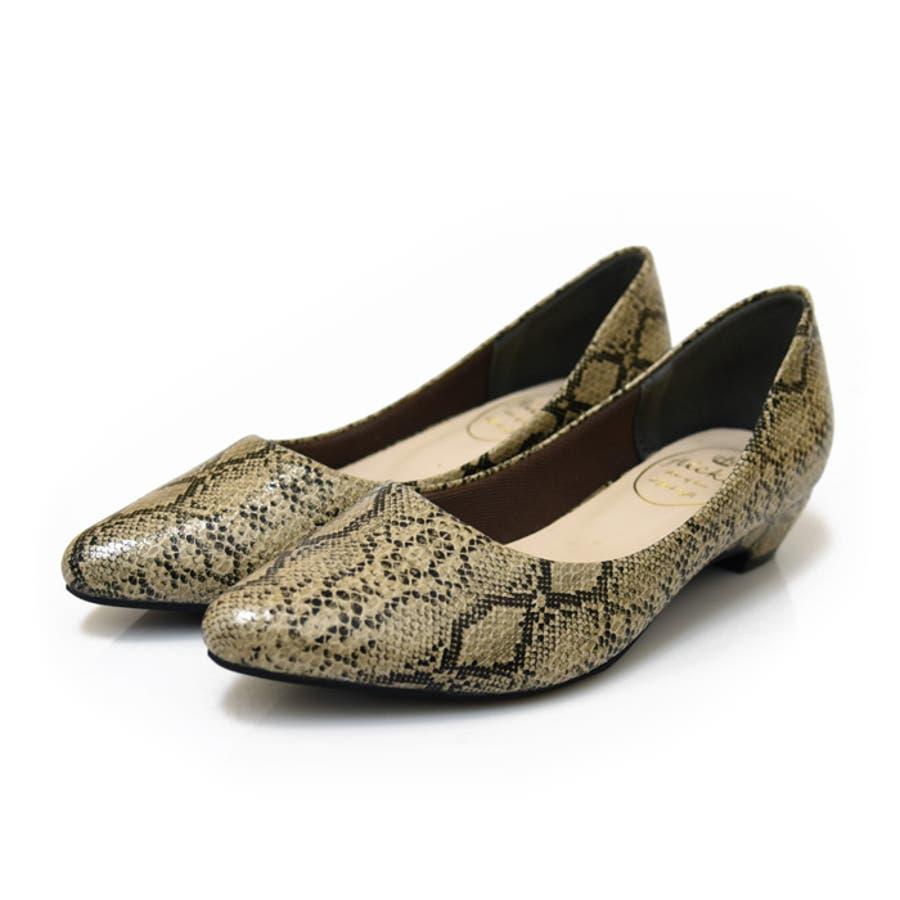ローヒールポインテッドトゥプレーンパンプス 靴 レディース パンプス ローヒールシンプル 歩きやすい アーモンドトゥ ブラック グレー ワイン 黒 ベージュ スネイク スエード NOFALL sango 3L SSサンゴ 21132 108