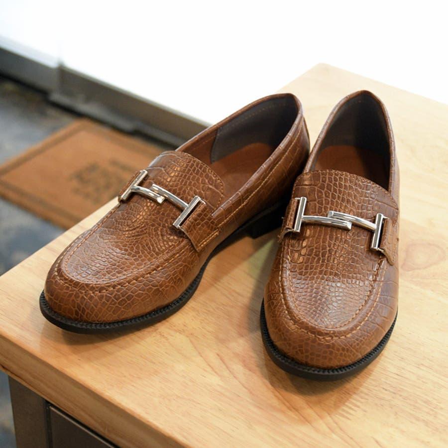 レディース 靴 ローファー マニッシュ シンプル おしゃれ ビット 可愛い 黒 ブラック ブラウン クロコ ベージュ フラット歩きやすい NOFALL SANGO サンゴ ノーフォール 21571 2