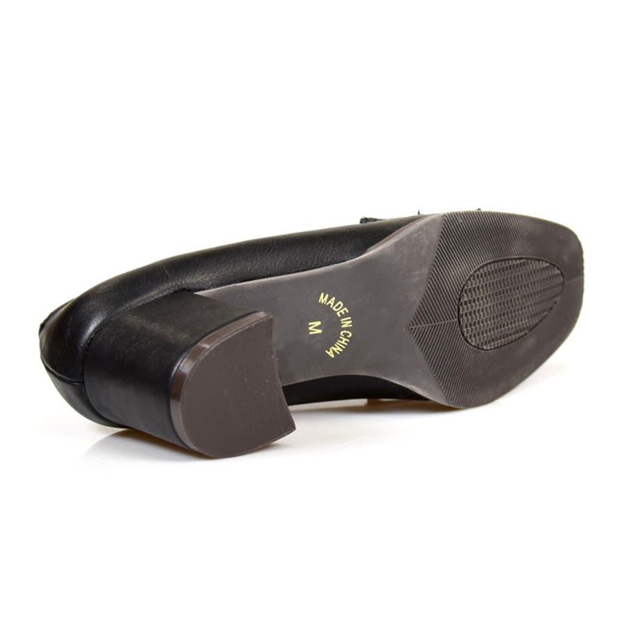 靴 レディース シューズ パンプスローファー マニッシュ タッセル ヒール おしゃれ かわいい 黒 ブラック ブラウン 美脚 NOFALL SANGO サンゴノーフォール 21664 9