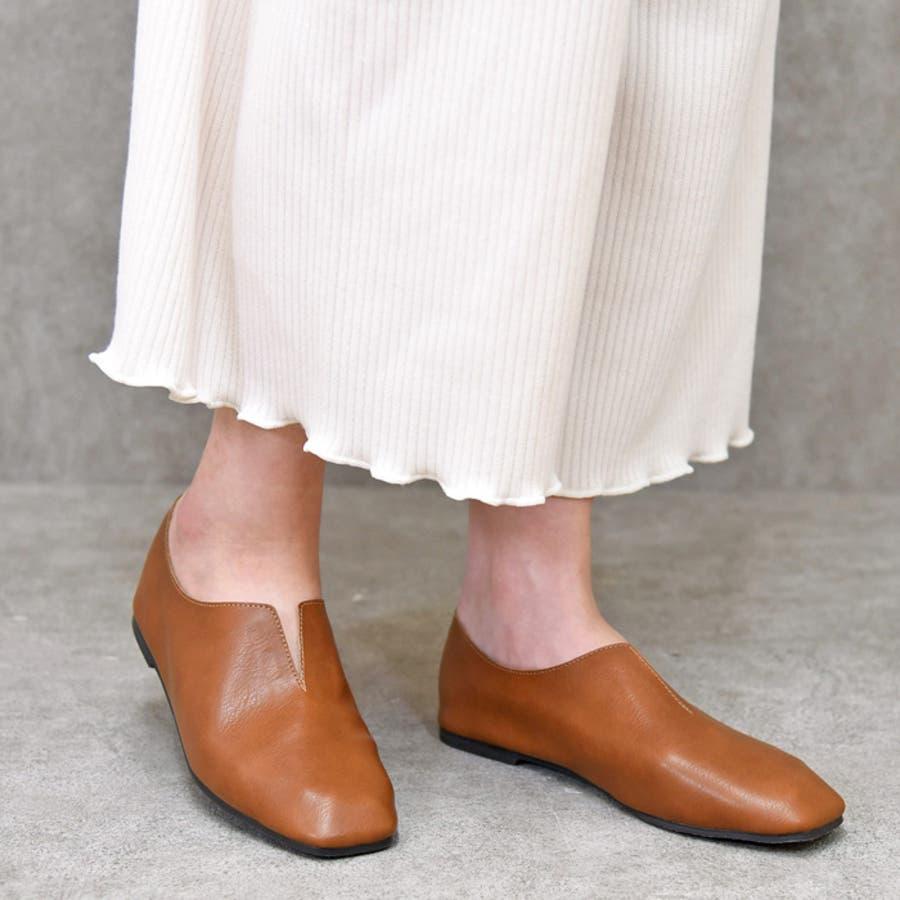 靴 レディース パンプス スリッポンバブーシュ おしゃれ 大人 柔らかい 軽い スクエアトゥ ブラック ベージュ ブラウン ホワイト 黒 NOFALLSANGO 21673 29