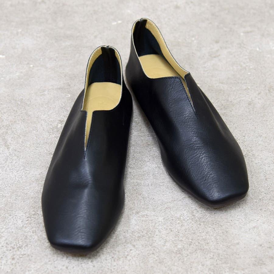 靴 レディース パンプス スリッポンバブーシュ おしゃれ 大人 柔らかい 軽い スクエアトゥ ブラック ベージュ ブラウン ホワイト 黒 NOFALLSANGO 21673 2