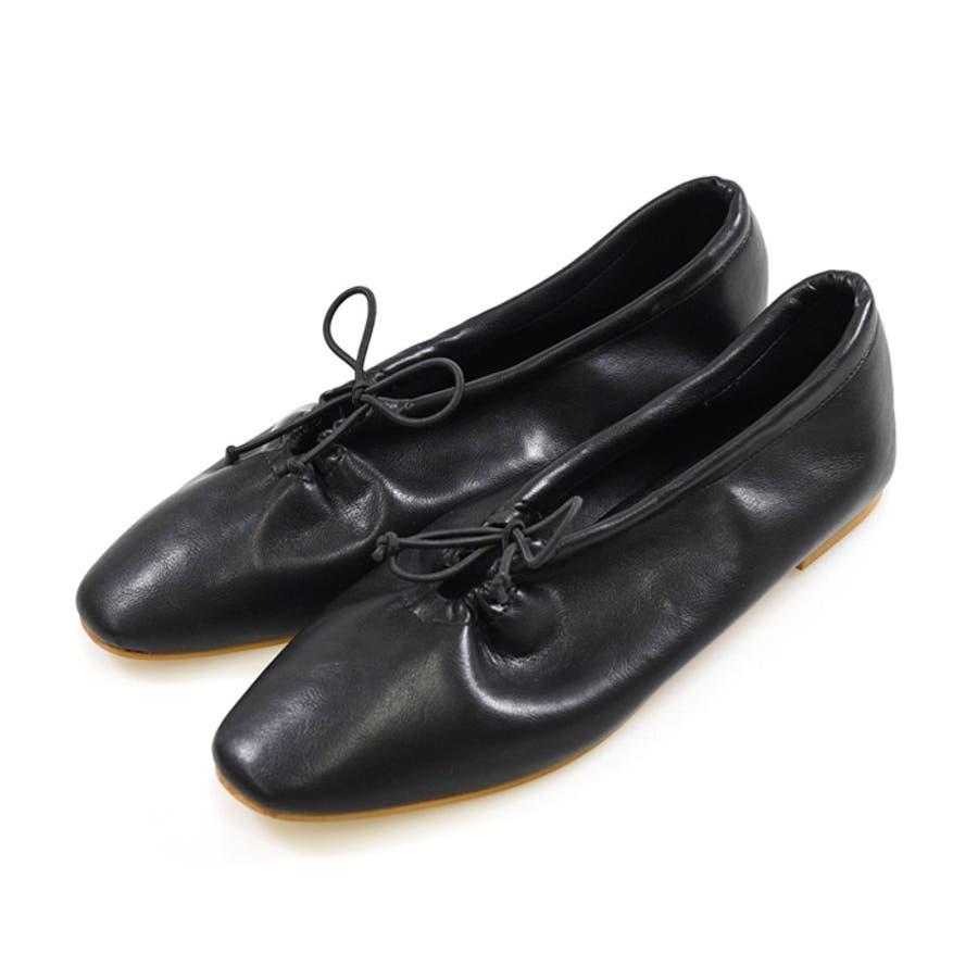 靴 シャーリング バレエ リボン フラット フロントリボン パンプス ラウンドトゥ トレンド シンプルカジュアル 淡色コーデ 履きやすい 柔らかい ブラック ベージュ ブラウン グレージュ 大人女子 韓国ファッション 秋 NOFALL 21777 21