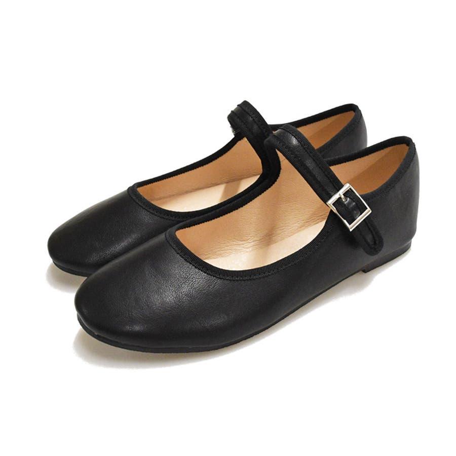 靴 レディース シューズ バレエシューズベロア エナメル ストラップ パンプス 可愛い カンフー フラット 靴下 ブラック ブラウン NOFALL SANGO ノーフォール 21760 21